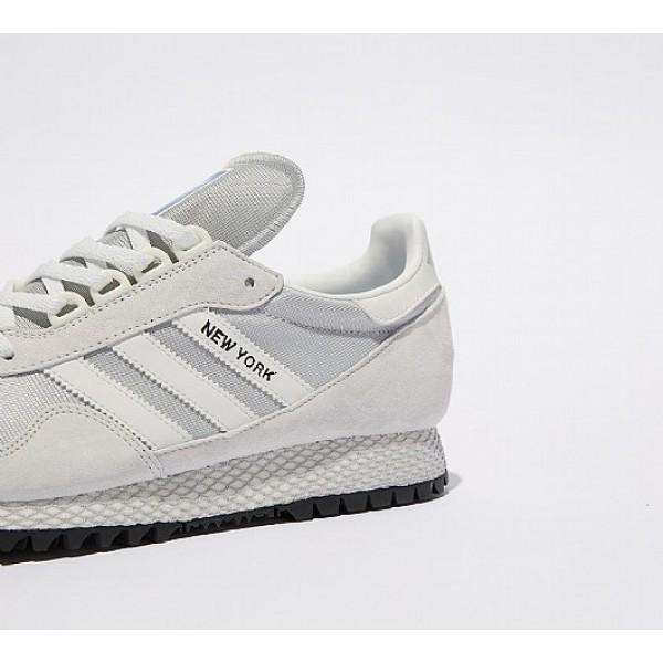 Stilvoll Adidas New York Herren Grau Turnschuhe Auslauf