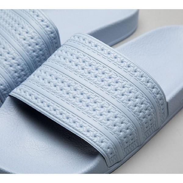 Neue Adidas Adilette Pastel Damen Blau Sandalen Online