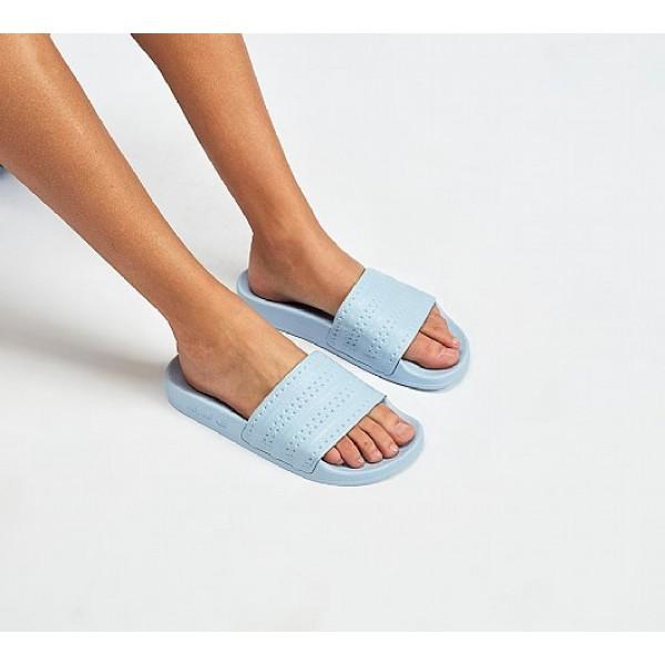 Neue Adidas Adilette Pastel Damen Blau Sandalen On...