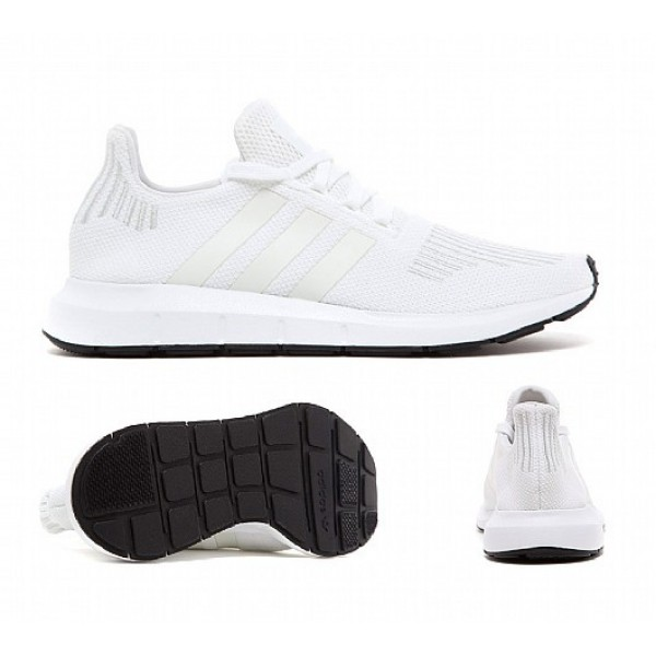 Neu Adidas Swift Run Herren Weiß Laufschuhe Auslauf