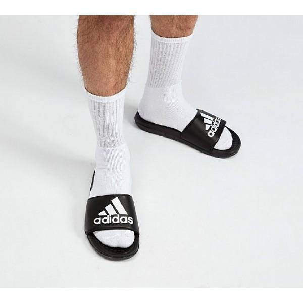 Neu Adidas Voloomix Herren Schwarz Sandalen Outlet