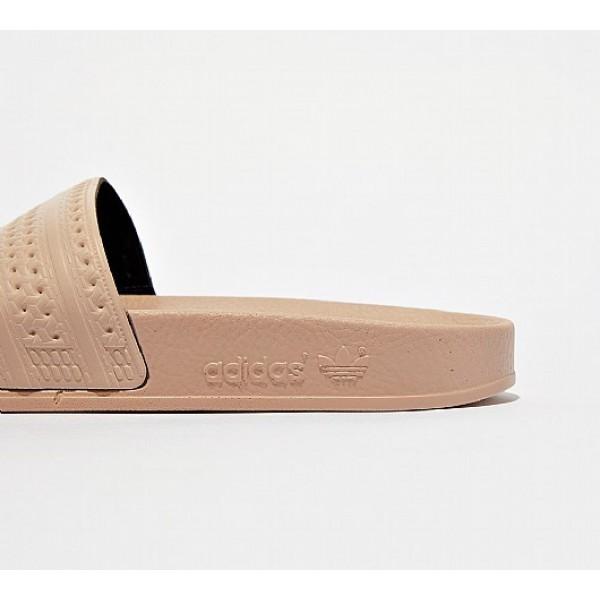 Neue Adidas Adilette Damen Khaki Sandalen Auf Verkauf
