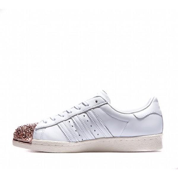 Neue Adidas 80's 3D Metal Shell Toe Damen Weiß Turnschuhe Online