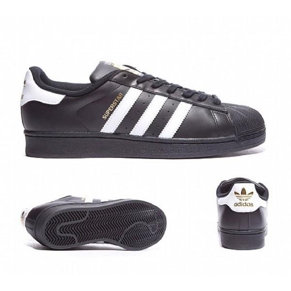 Neu Adidas Superstar Foundation Herren Schwarz Tur...