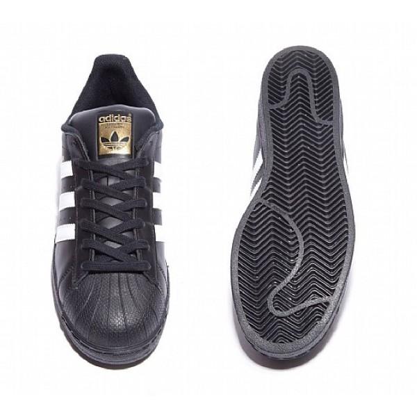 Neu Adidas Superstar Foundation Herren Schwarz Turnschuhe Auf Verkauf