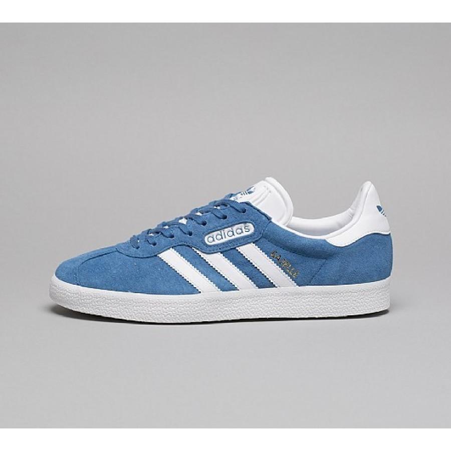 Neue Adidas Gazelle Super Essential Herren Blau Turnschuhe