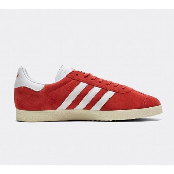 Neue Adidas Gazelle Herren Rot Turnschuhe Outlet