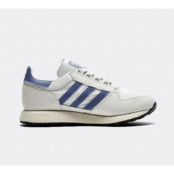 Neue Adidas Forest Grove Damen Beige Laufschuhe Auslauf