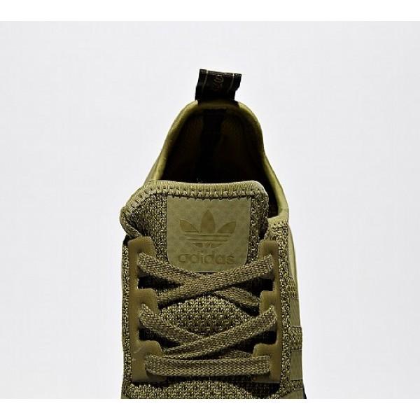 Neue Adidas NMD R1 Herren Olive Laufschuhe Auslauf