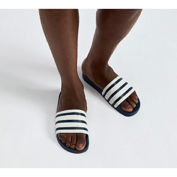 Neue Adidas Adilettes Herren Weiß Sandalen Auslau...